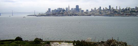 Vista de San Francisco desde la Isla de Alcatraz