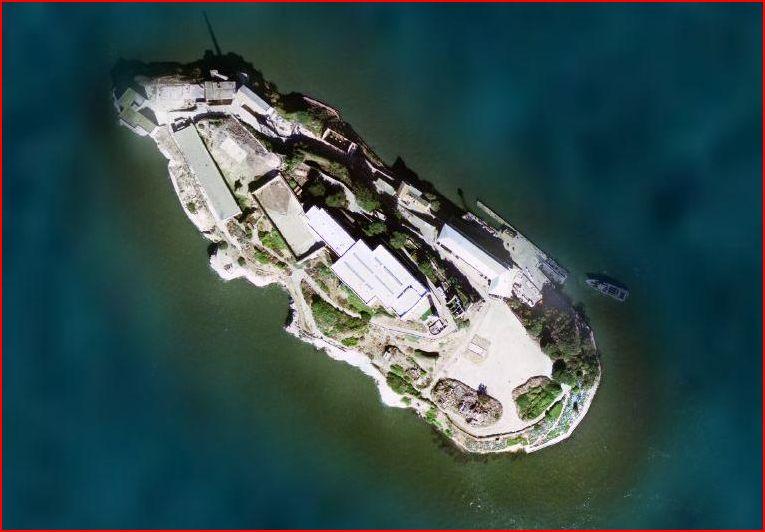 ISLA DE ALCATRAZ, GOOGLE MAPS