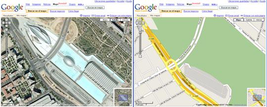 Google maps ciudad de las artes valencia