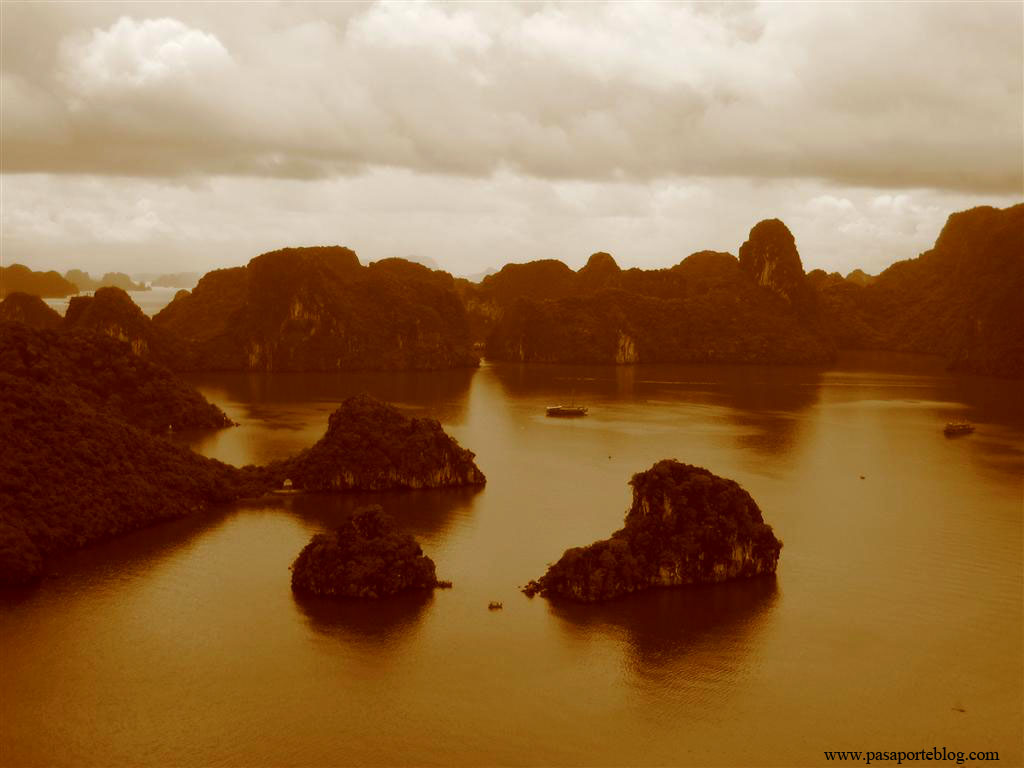 bahia de halong vista panoramica