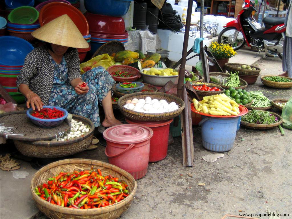 Mercado en Hoi An, Viaje por Vietnam de Sur a Norte