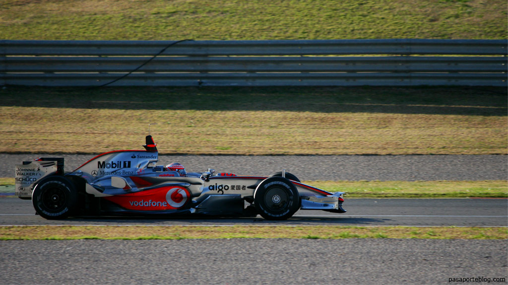 McLaren Hamilton Formula 1 en Valencia