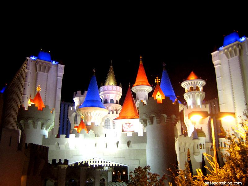 Hotel Casino Excalibur, Las Vegas, viaje por la costa oeste de Estados Unidos.