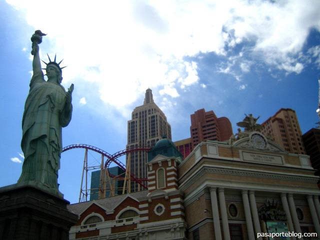 Hotel Casino New York New York, estado de Nevada, viaje por la costa oeste de Estados Unidos.