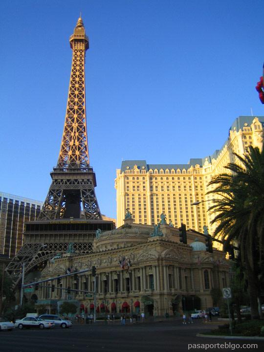 Hotel Paris, Las Vegas, viaje por la costa oeste de Estados Unidos.