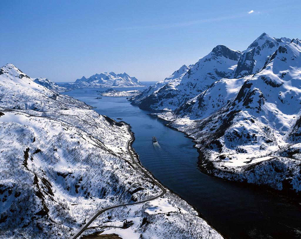 Hurtigruten Crucero en busca de la Aurora Boreal en Noruega
