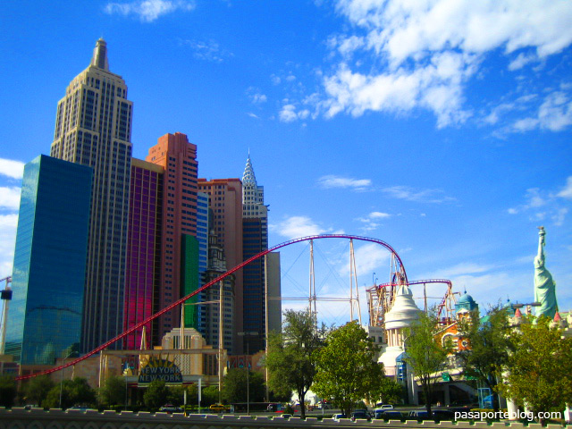 Casino New York New York, estado de Nevada, viaje por la costa oeste de Estados Unidos.