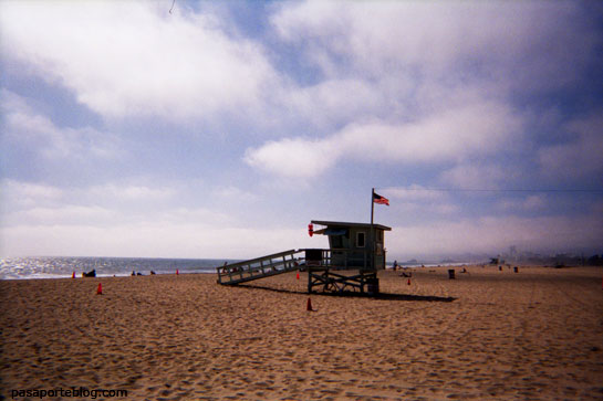 los vigilantes de la playa en Santa Monica, Los Angeles