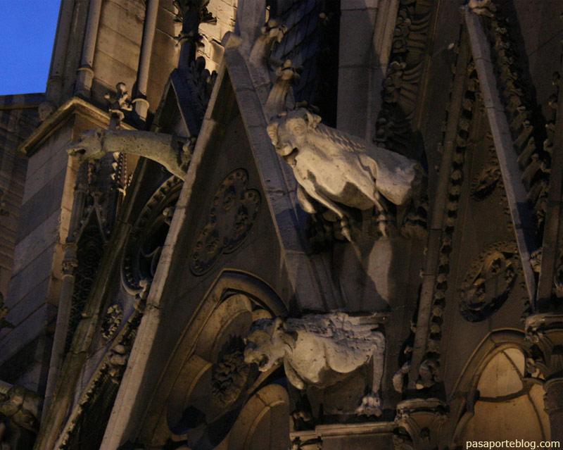 Gargolas Catedral de Notre Dame, Paris, Francia