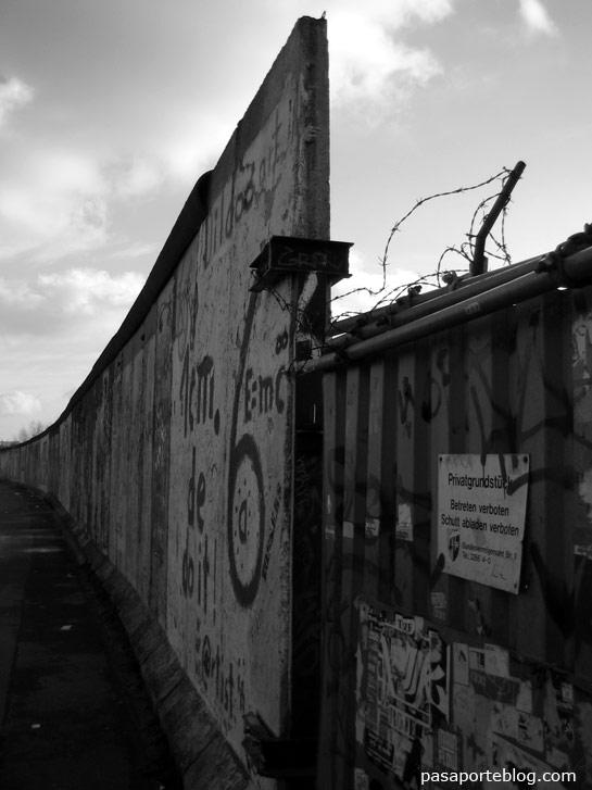 Lateral del Muro de Berlin