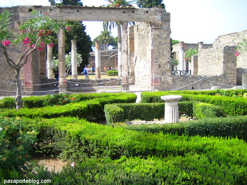 Pompeya, jardines de casas romanas