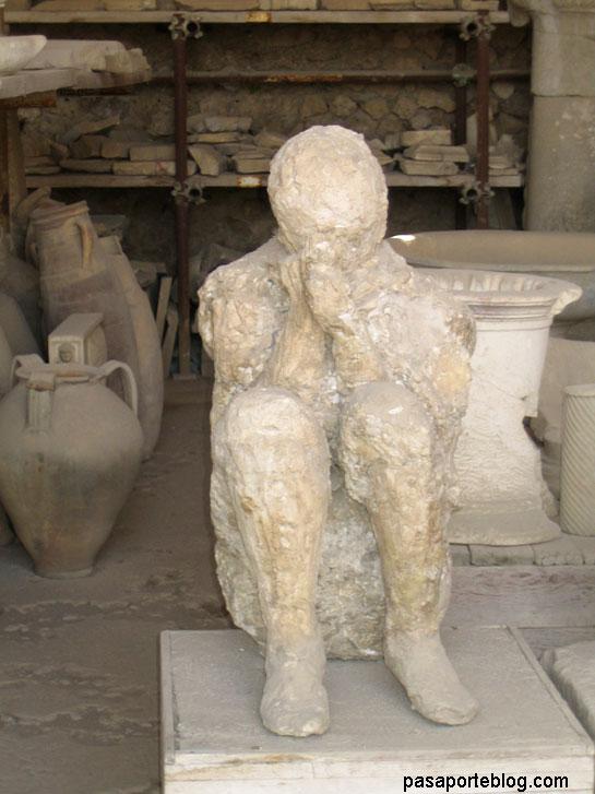 Pompeya, Calcado en Yeso