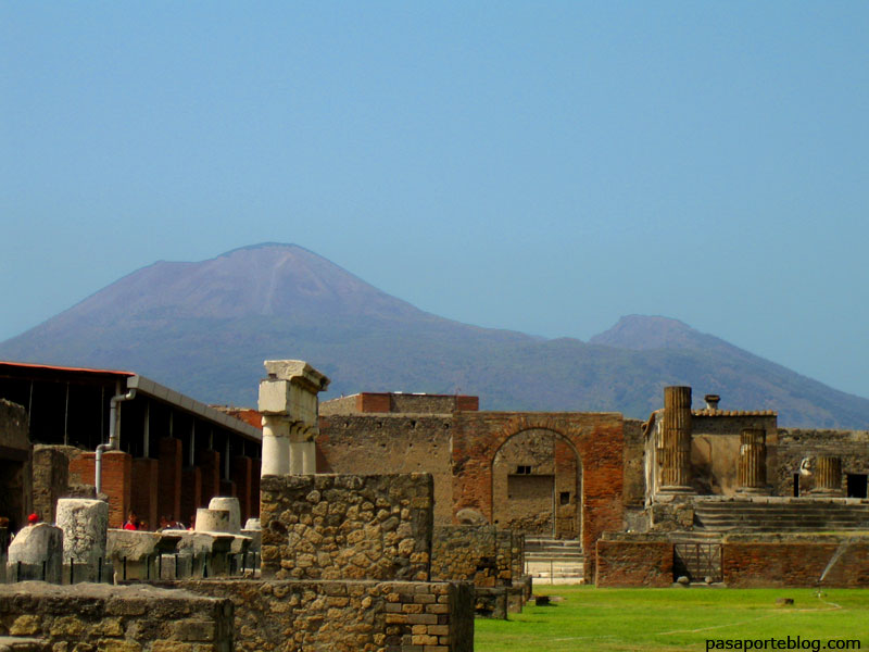 Erupcion del Vesubio, Pompeya