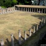 Pompeya, en la arena con los gladiadores.