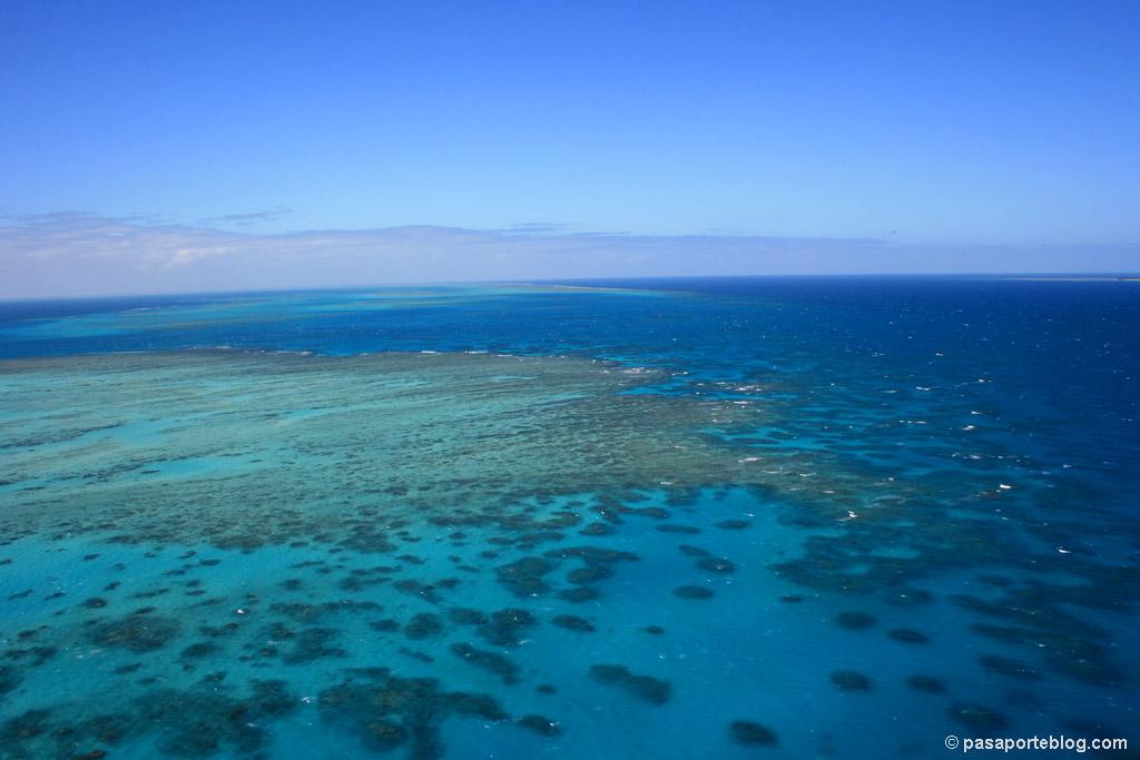 Desde el Helicoptero la Gran Barrera de Coral, Australia
