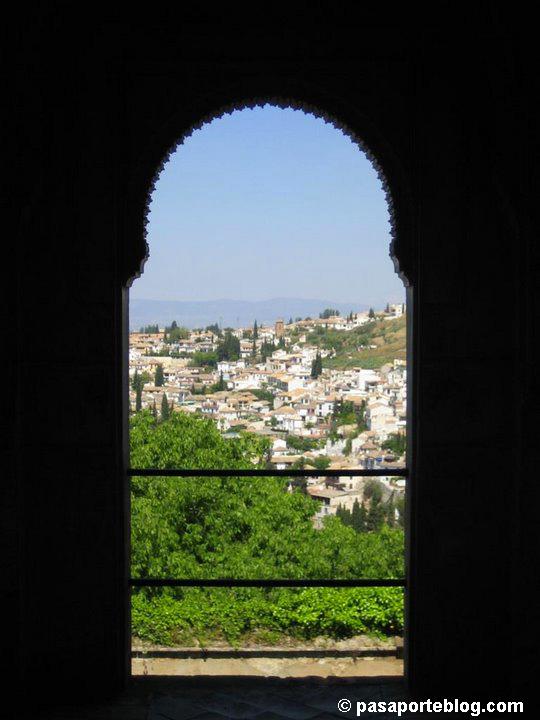 Barrio de Albaicin desde la Alhambra de Granada