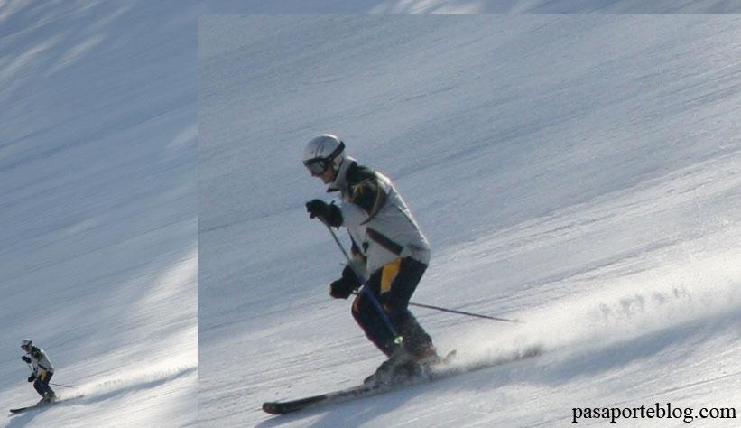 Esquiador en los Alpes Italianos