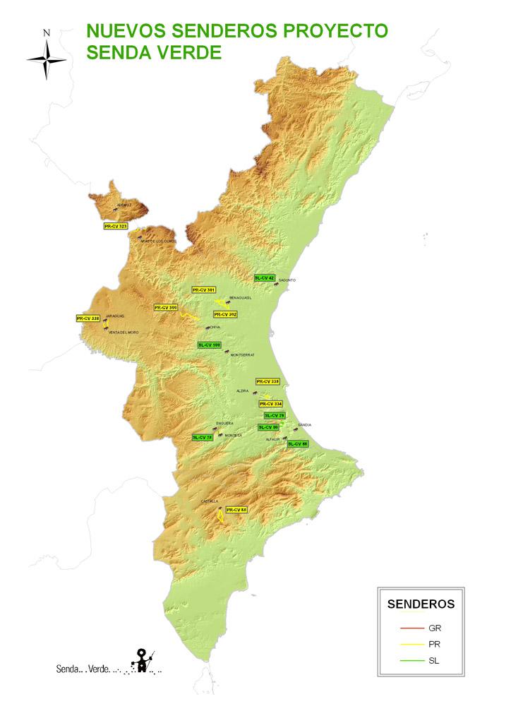 Senderos Comunidad Valenciana GR PR