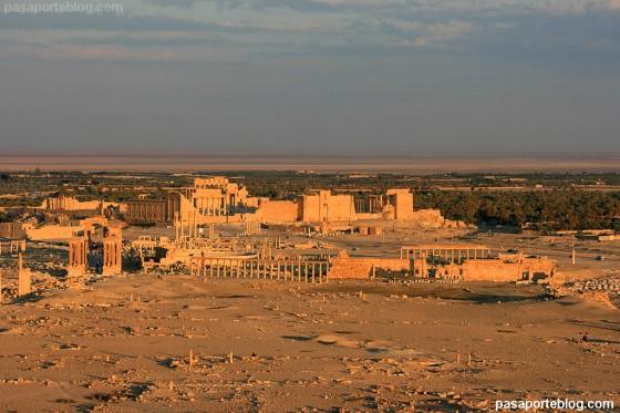 Palmira Syria atardecer