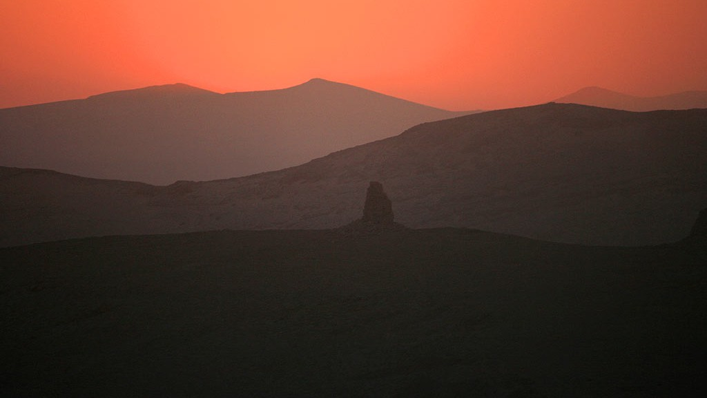 increible puesta de sol en palmira