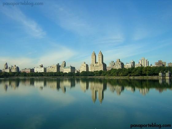 skyline nueva york central reservoir