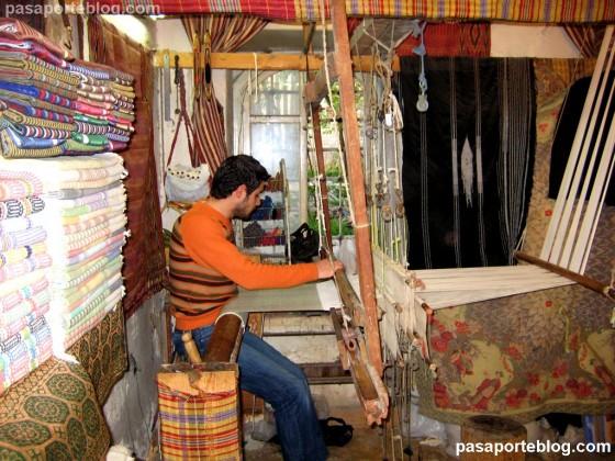 alepo siria zoco de los artesanos telar