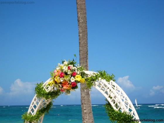 detalle floral boda en el caribe