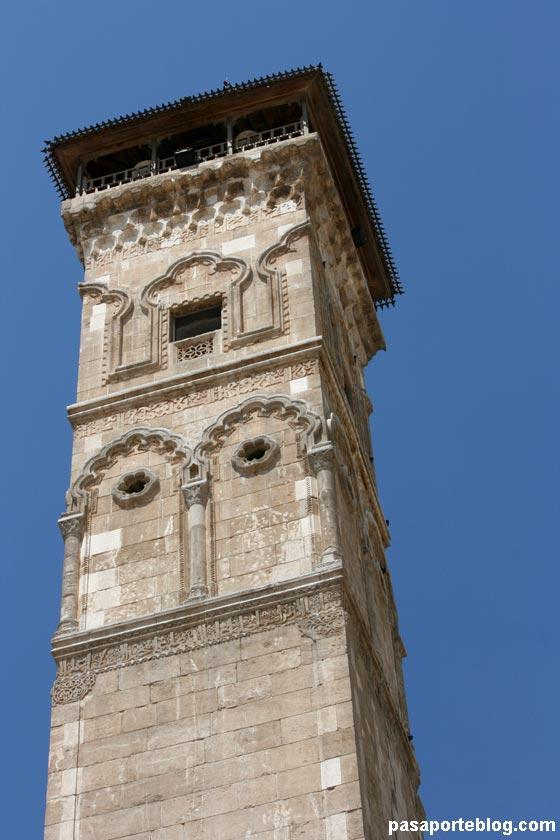 Minarete de la Gran Mezquita de Alepo, viaje a Siria
