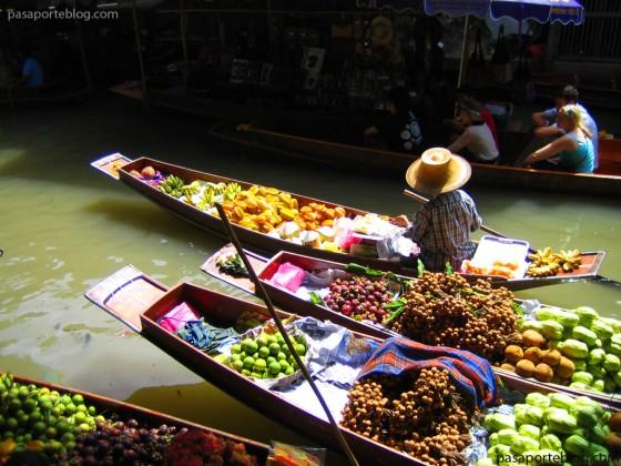 mercado flotante bangkok tailandia