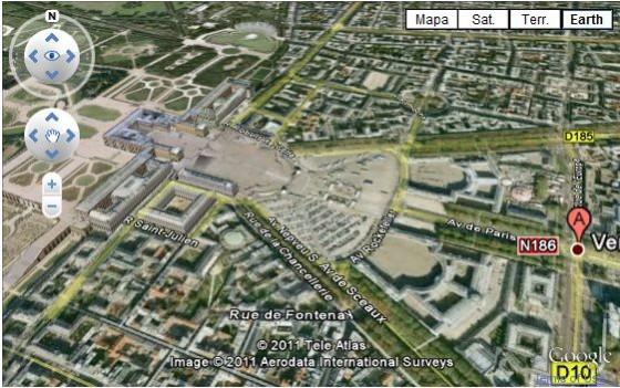 palacio de versalles maps