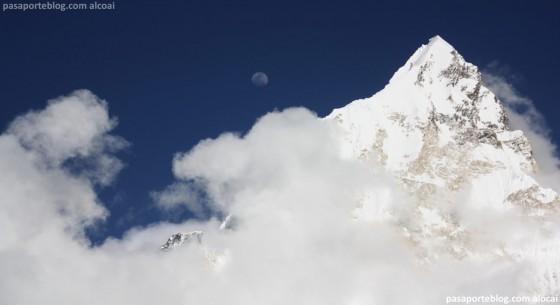 monte everest nepal luna llena