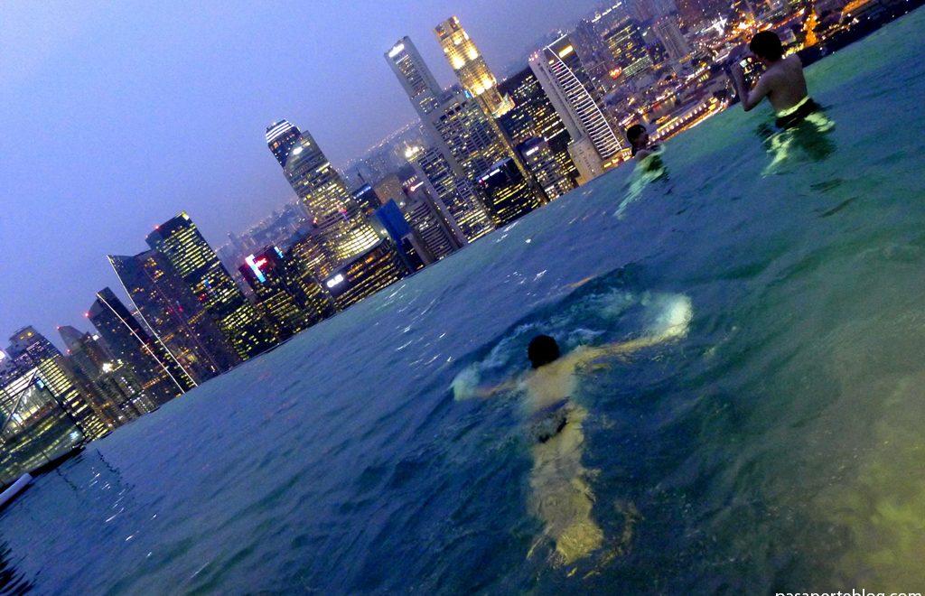 singapur, piscina de cielo infinito en hotel