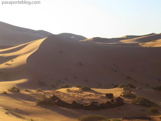 haimas en el desierto del sahara, viaje a marruecos