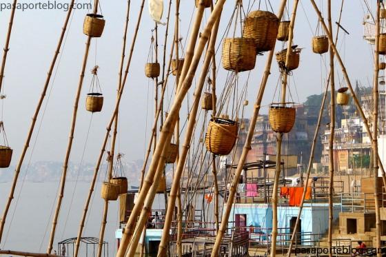 Rio ganges canyas de Bambu viaje a la India
