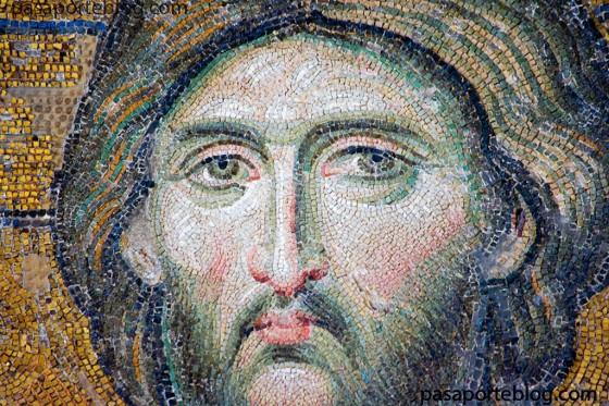 mosaico en el museo nacional de santa sofia Estambul