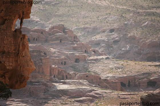 Vistas a la ciudad baja de Petra, viaje a Jordania