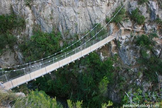 Puentes Colgantes en Chulilla Valencia, turismo interior