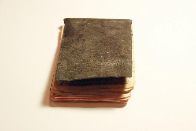 Libreta antigua de viajes