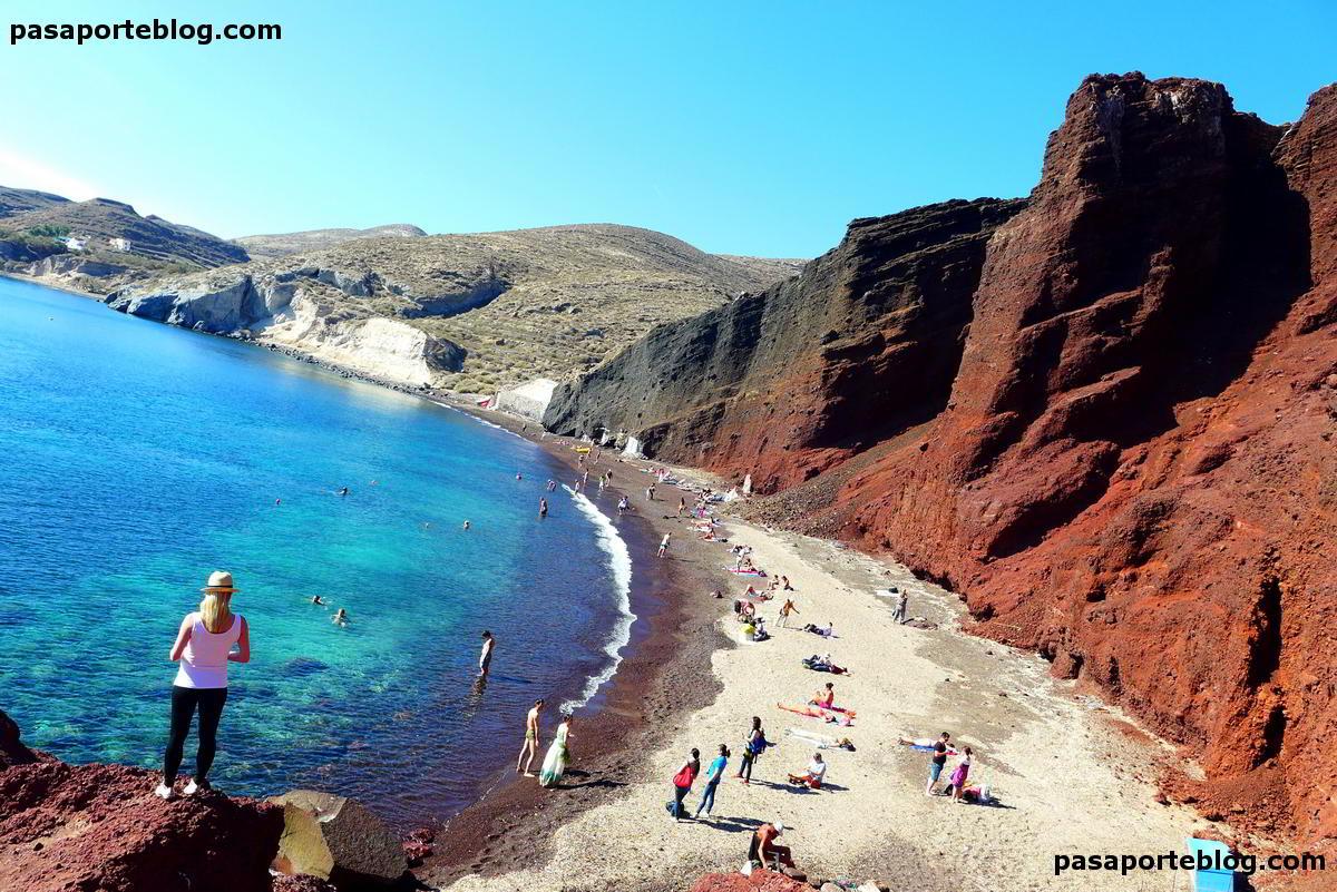 Santorini playa roja