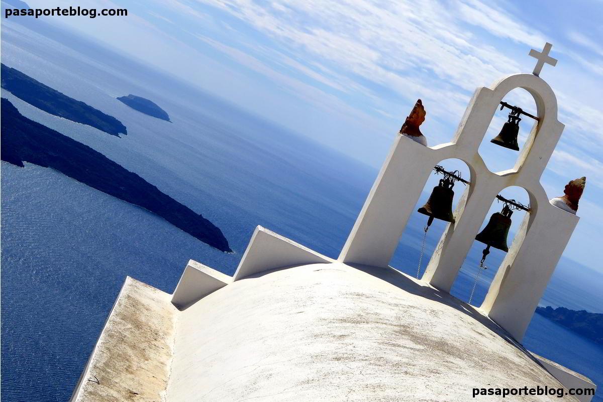 santorini campanario islas griegas