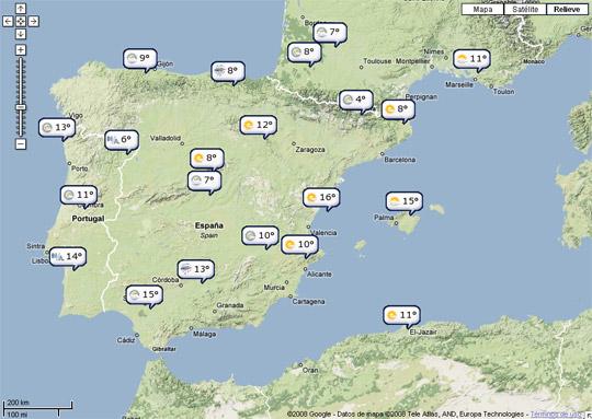 ¿Qué tiempo hará en el viaje? El Tiempo Google Maps