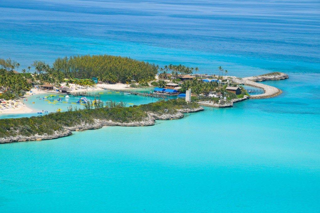la increible isla paradisiaca blue lagoon en nassau las bahamas