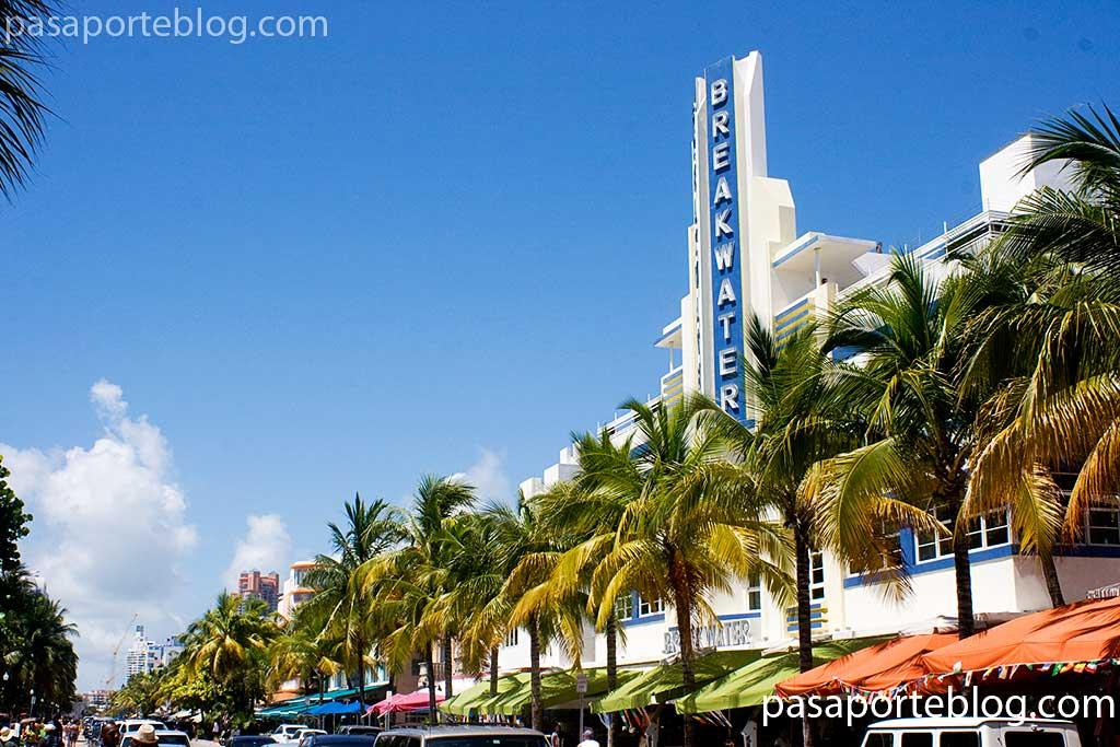 Ocean Drive el distrito Art Deco