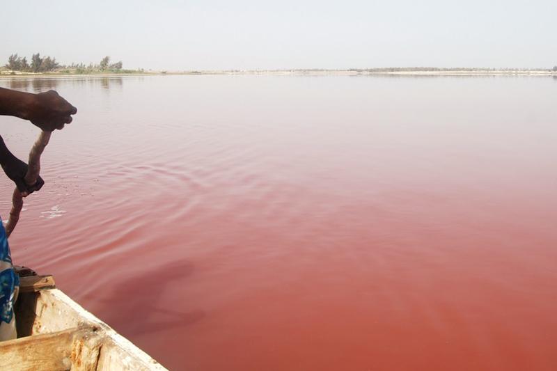 Lago Retba (Cabo Verde), el lago rosa. Los 10 lagos más espectaculares del mundo
