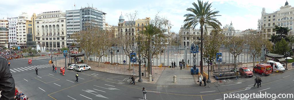 panoramica desde el balcon de la plaza del ayuntamiento