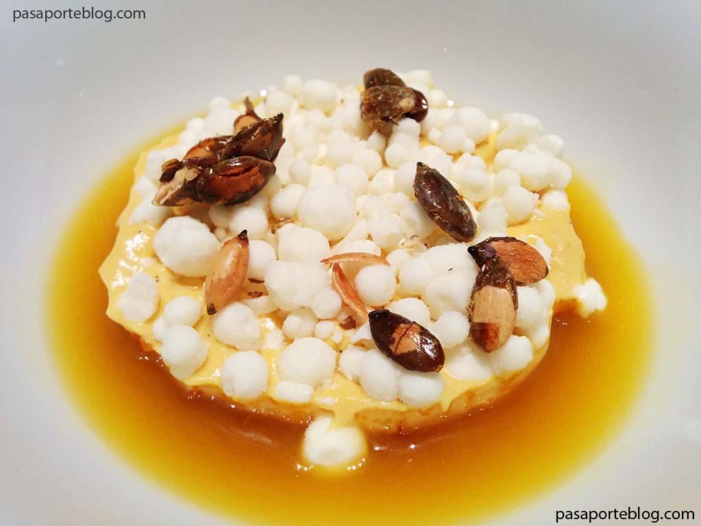 calabaza-asada-yogurt-y-jengibre-estrella-michelin-restaurante-valencia