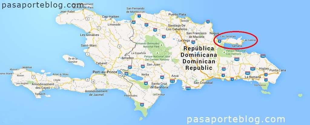 mapa de la peninsula samana republica dominicana