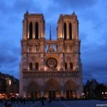 Catedral de Notre Dame de noche, Paris