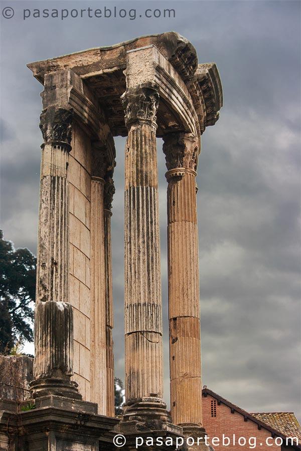 foro romano colunmas roma en 3 dias