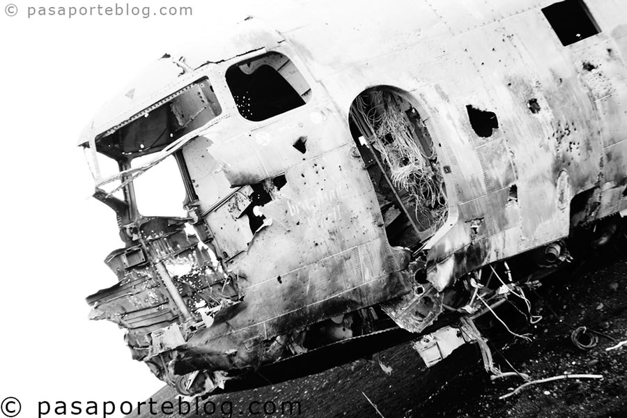 turismo islandia avion dc estrellado
